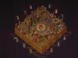 Marsiglia, San Vittore, arazzo rappresentante la Gerusalemme celeste, da cartone di Simone Lorimy-Delarozière (1905-1987).
