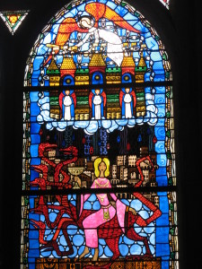 Clermont-Ferrand, Cattedrale, Vetrata dell'Apocalisse (Alain Makaravicz).