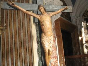 Napoli, Chiesa del Gesù Nuovo, Crocifisso ligneo (sec. XIV, prima metà)